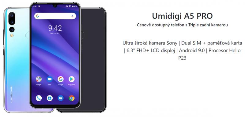 UMIDIGI A5 Pro parametry